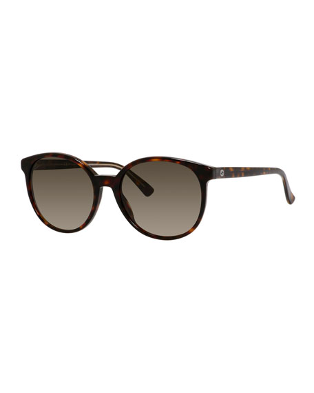 Gucci GG-Temple Butterfly Sunglasses, Havana