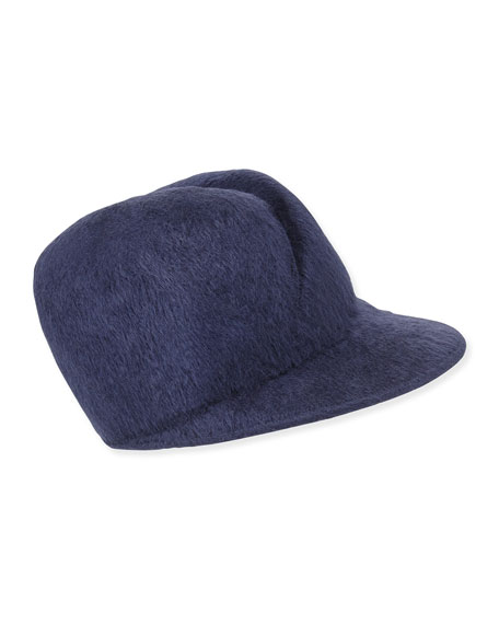 Esther Felted Cap, Navy