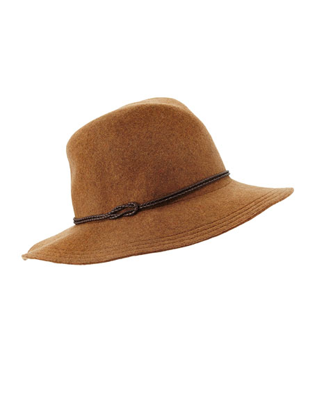 Kataka Felt Leather-Trim Hat