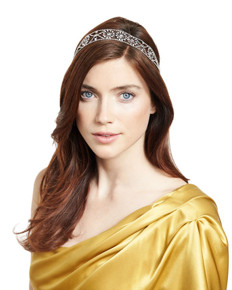 Jennifer Behr Filippa Swarovski® Head Wrap, Crystal