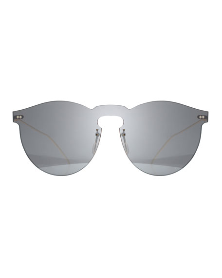 Rimless Mirrored Sunglasses, Gray