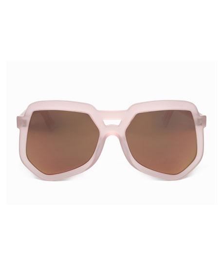 Clip Acetate Aviator Sunglasses, Pink