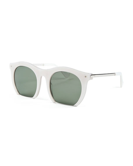 Grey Ant The Foundry Cutoff Sunglasses, Pearl