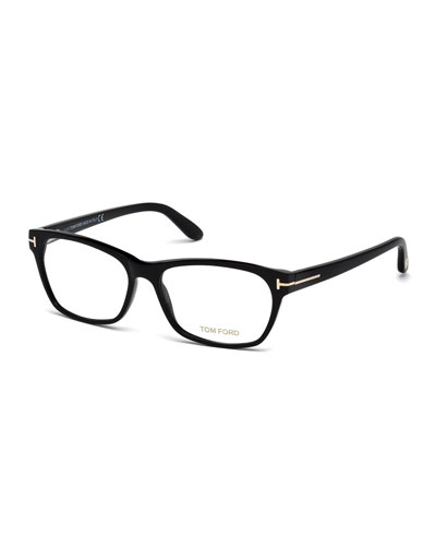 Square Optical Frames, Black