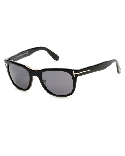 Jack Square Polarized Sunglasses, Black
