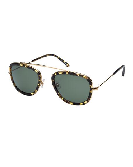 KREWE Huey Polarized Aviator Sunglasses, Zulu