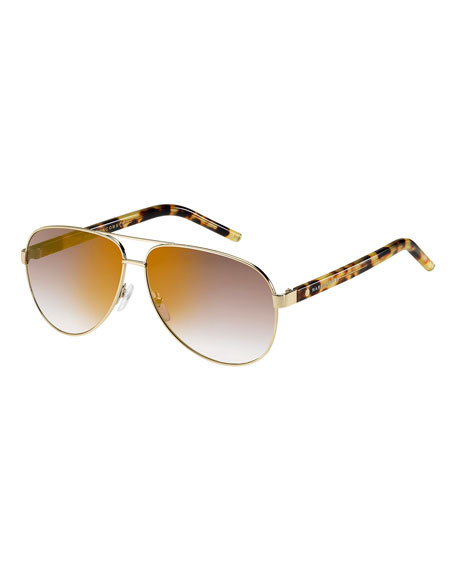 Marc Jacobs Metal Aviator Sunglasses, Spot Havana