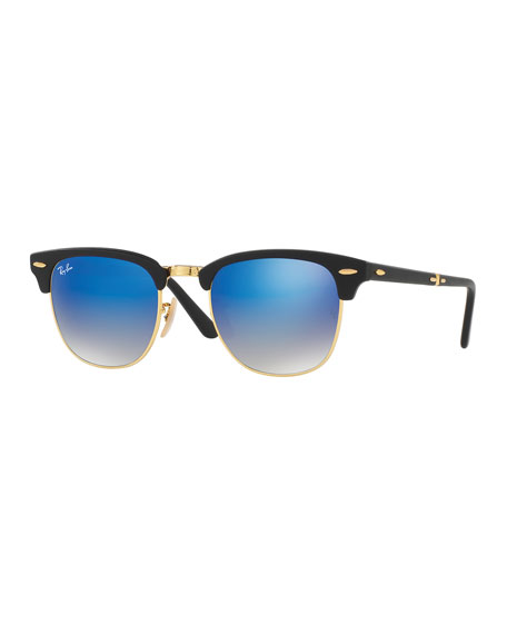 Foldable Clubmaster® Flash Sunglasses, Blue/Black