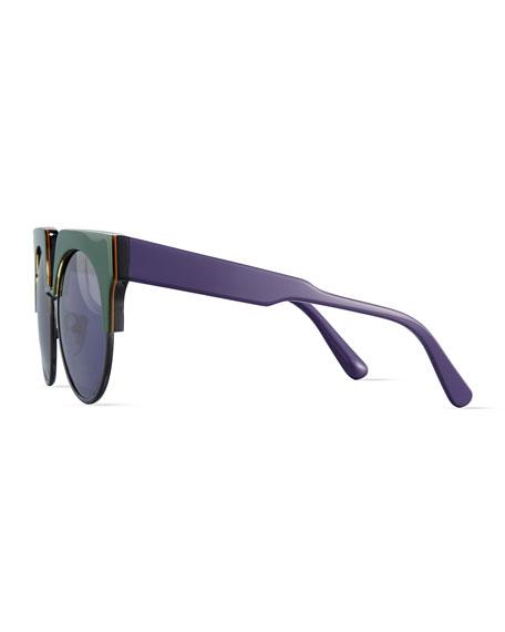 4274dccfff Marchon Eyewear Square Semi-Rimless Two-Tone Sunglasses