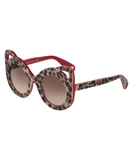 Girls' Leopard Cat Sunglasses