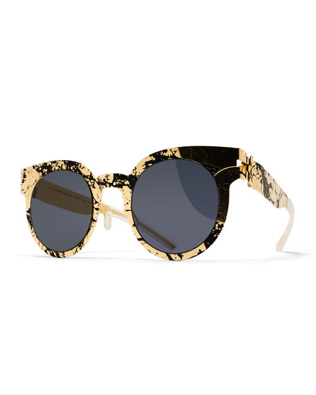 MYKITA + Maison Margiela Transfer Rounded Square Sunglasses,