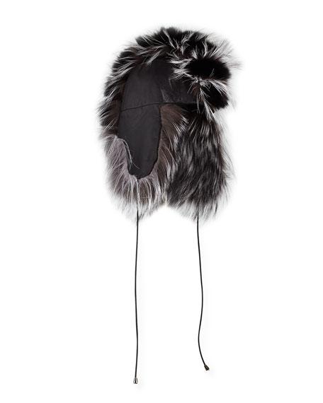 Gigi Burris Myra Leather & Fox Fur Trapper