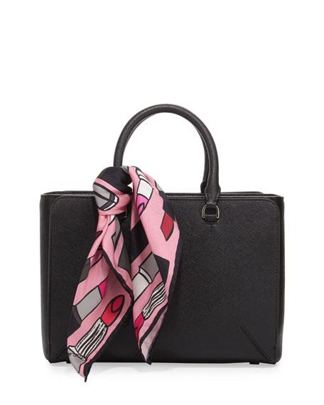 Lipstick Silk Square Scarf, Pink