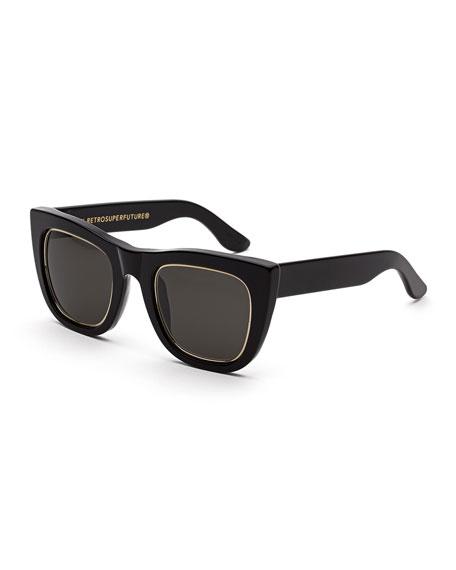 Super by Retrosuperfuture Gals Impero Peaked Square Sunglasses,