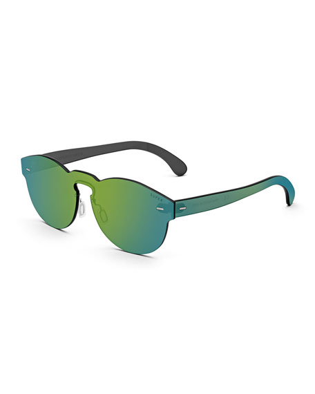 Tuttolente Paloma Unit Sunglasses, Blue/Green