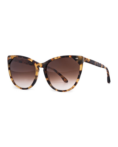 Swappy Cat-Eye Sunglasses, Tortoise