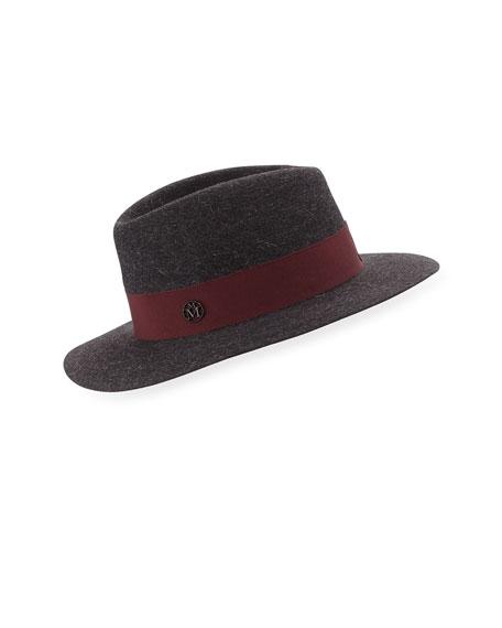 Andre Felt Classic Fedora Hat, Charcoal