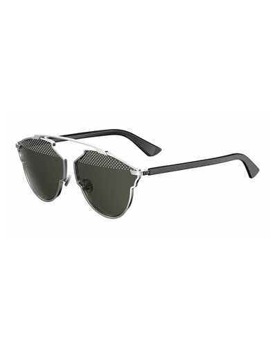 So Real Studded Sunglasses, Black