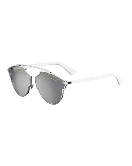 Dior So Real Studded Sunglasses, White
