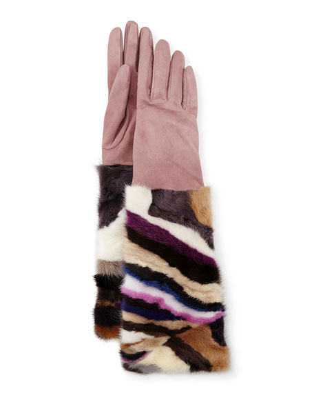 Gepa Gloves for Neiman Marcus Long Suede &