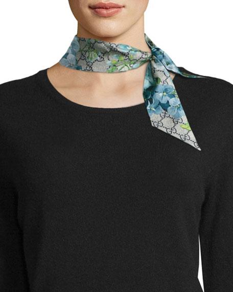 a6c1c1e8873 Gucci GG Blooms Skinny Silk Scarf