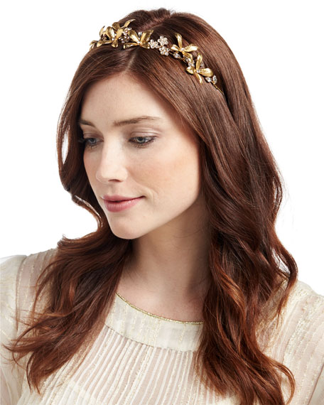 Layla Floral Leaf Bandeau Headband