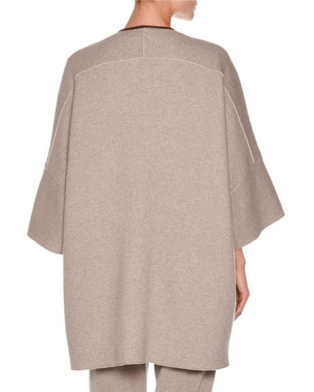 Iconic Mink-Trim Cashmere Cape