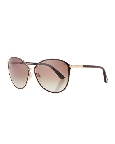 Penelope Metal Butterfly Sunglasses