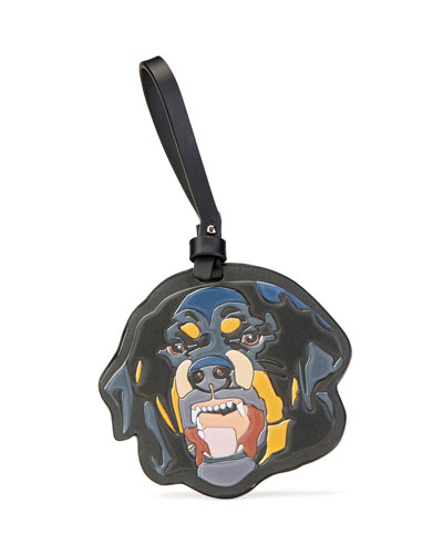 Rottweiler Leather Keychain, Multi