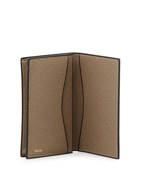 Leather Business Card Holder, Taupe