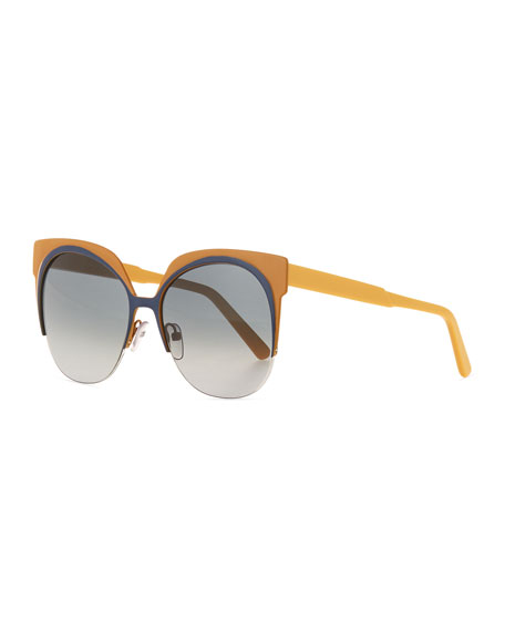 Marni Two-Tone Cat-Eye Sunglasses