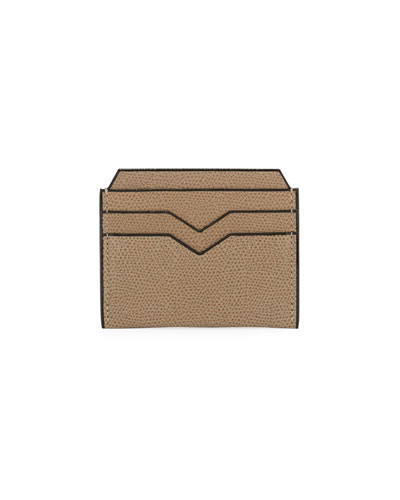 Textured Leather Card Case