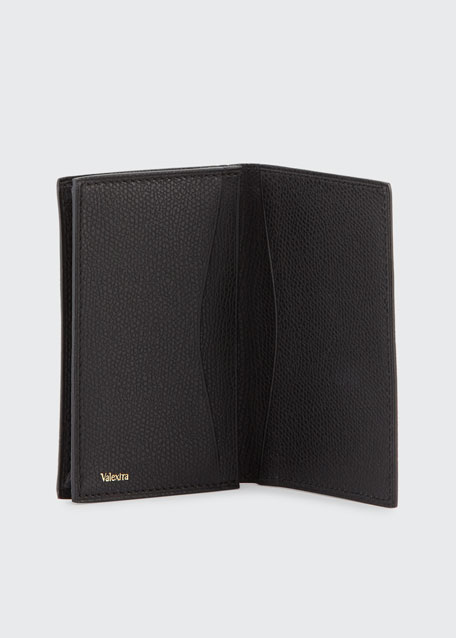 Leather Business Card Holder, Black