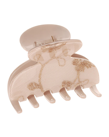 Annette Lace Small Couture Jaw Clip for Hair