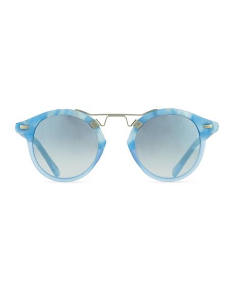 St. Louis Round Gradient Sunglasses, Blue