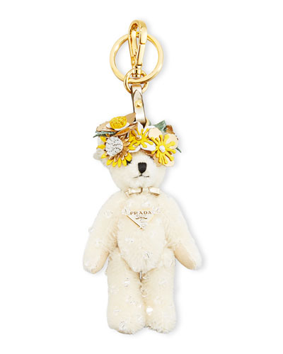 Enea Bear Keychain with Flower Crown