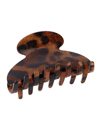 Leopard Print Jaw Hair Clip