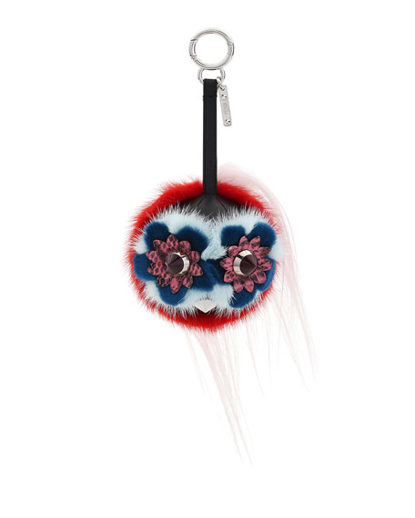 Fendi Monster Fur Charm for Handbag, Multi