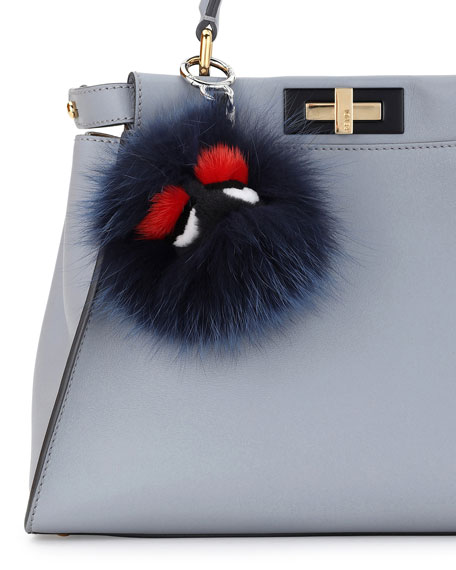 Monster Mixed-Fur Mini Charm for Handbag