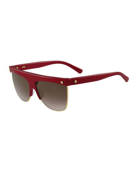 Oversized Flat Top Sunglasses  mcm grant oversized flat top sunglasses