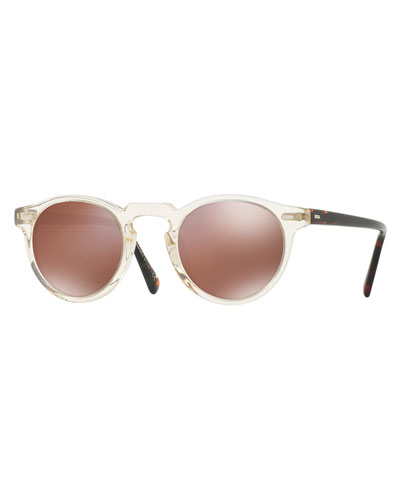 Gregory Peck 47 Limited Edition Mirrored Sunglasses, Yellow