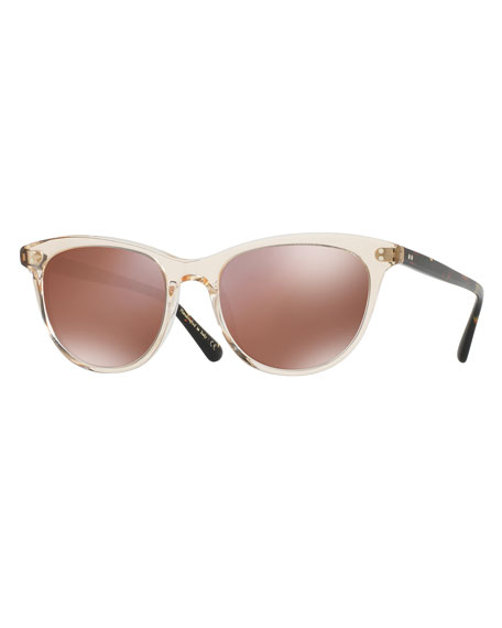 Oliver Peoples Jardinette Mirrored Square Sunglasses