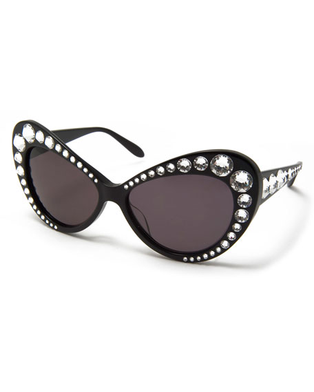 59a99f575f412 Moschino Jeweled Dramatic Cat-Eye Sunglasses