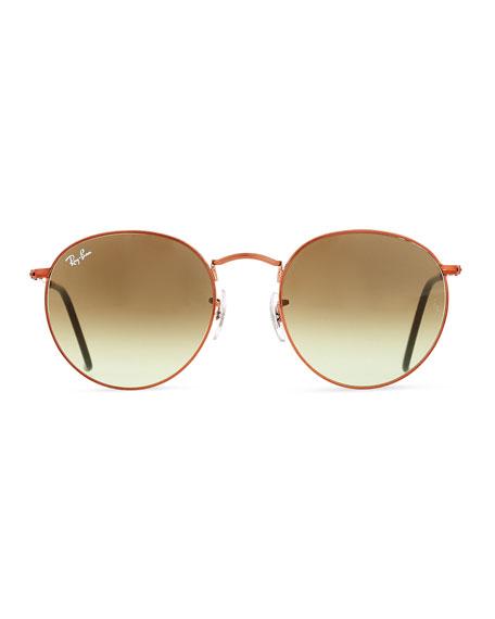 Gradient Round Metal Sunglasses