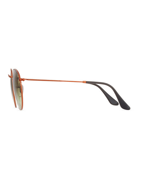 Gradient Round Metal Sunglasses