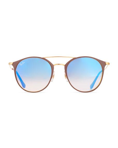 8bd840737abf1 Ray-Ban Mirrored Iridescent Round Double-Bridge Flash Sunglasses
