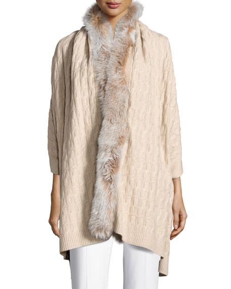 Fox Fur & Cashmere Wrap