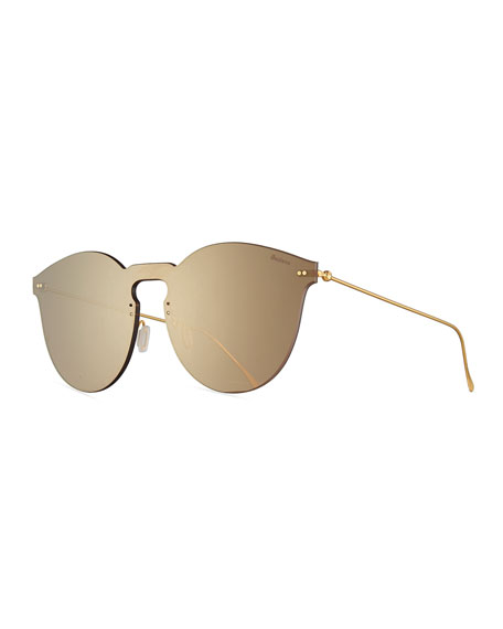 Illesteva Leonard II Mask Sunglasses, Brown