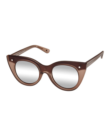 Le Specs Luxe Nefertiti Two-Tone Cat-Eye Sunglasses, Matte