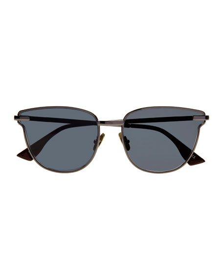 Pharaoh Square Monochromatic Sunglasses, Black
